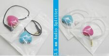 3.5 mm Heart Shaped Audio Splitter for Earphone headphone Music
