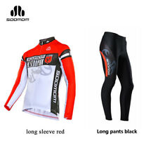 Spakct Cycling Suits Long Sleeve Long Jersey & Tights Pants Black Yellow New