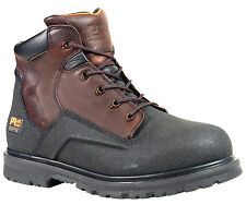 "Mens Timberland PRO 47001 Powerwelt 6"" Waterproof Steel Toe Boot Brown (D, M)"