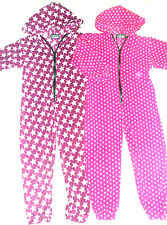 All in One Lounge Suit, Fleece, Purple/Stars, Pink/Dots in Baby-Adult Sizes