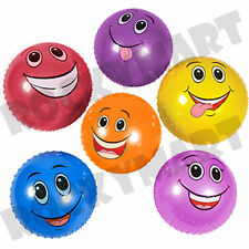 """6"""" FUNNY FACE Knobby Ball Inflate Party Favor Autism Sensory Baby Massage RM2836"""