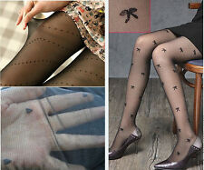 1PC Stylish Black Sexy Lady Girl Pattern Jacquard Pantyhose Tights Stockings
