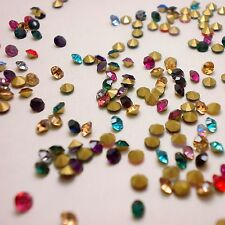 Mixed Colors Point back Rhinestones Crystal Glass Strass Chatons Stones