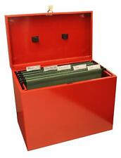 A4 METAL FILE BOX LOCKABLE LID AND VARIOUS COLOURS - GREAT PRODUCT + FREE P&P!