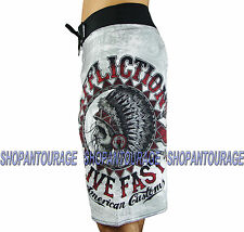AFFLICTION AC Stampede 101BS100 Men`s New White Boardshorts