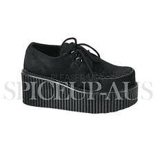 Demonia Shoes CREEPER-202 Creepers Heels Black Gothic Sexy