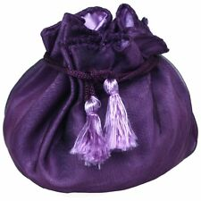 6 Designer Organza and REVERSIBLE Satin Fabric Gift Bags Pouches Party Favor