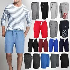 MENS ELASTICATED CASUAL SUMMER SHORTS GYM JOGGING JERSEY SHORTS TROUSERS S-XXL