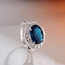 Women 925 Sterling Silver sapphire love Wedding Ring sz 7/8/9 Fashion