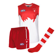 Official AFL Footy Sydney Swans Kids Youth Auskick Jumper Guernsey Shorts Socks