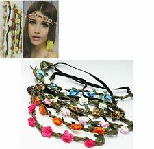 Boho Ladies Floral Flowers Festival Wedding Garland Forehead Hair Head Band