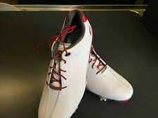 FOOTJOY MEN'S DNA GOLF SHOE WHITE WITH RED ACCENT AND LACES medium width