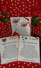 Valentines Day Gift Bag Personalised Survival Kit Novelty Gift Bag of Love