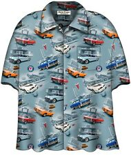 CLASSIC PONTIACS HAWAIIAN CAMP SHIRT - David Carey Originals - BRAND NEW!
