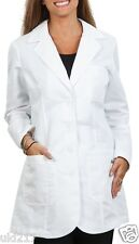 Greys Anatomy Womens 32 inch Embroidered Heartline White Lab Coat 4425 NWT