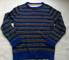 Boys M & S BNWT Blue stripe cotton round neck jumper age 7 -8 years