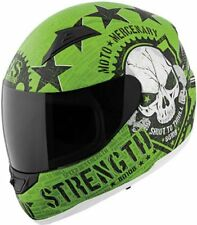 Speed and Strength SS1100 Full Face Moto Mercenary Green  Clear Shield