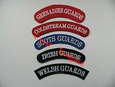 Brigade of Guards. Grenadier, Coldstream, Scots, Irish, Welsh. Shoulder titles.