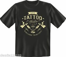 FUN - T SHIRT - CLASSIC TATTOO STUDIO - SZ S M L XL-XXL NEW (1788)