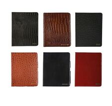 Members Only Genuine Leather Stand Up Portfolio Case Cover For iPad 2, 3, 4
