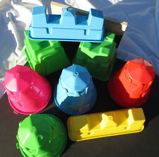 Sand Castle Molds Cone Square Outdoor Beach Play