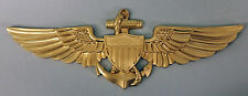 HUGE PILOT WINGS US COAST GUARD MARINE CORPS NAVY NAVAL AVIATOR INSIGNIA PLAQUE