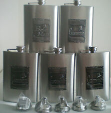 Wedding Gift Party Flasks With Engraved Groomsman Best Man & Funnels