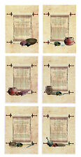 Ancient Roman Recipe scroll Apicius A5 canvas Print choice 6 pigeon goose cakes