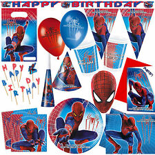 Marvel The Amazing Spiderman Birthday Party Tableware Cups Party Bags Invitation