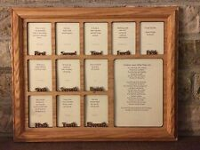 School Years First Grade-Graduation Collage Picture Frame 11x14 Words