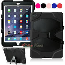 Kids Shockproof Military Heavy Duty Rubber Hard Case Cover For Apple iPad Air 2