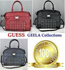 NWT Authentic Luxury GUESS Women Handbag GEELA Satchel Bag Tote Ladies Purse