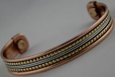 Ladies Gents Magnetic Copper Bracelet for Therapy Arthritis Healing Pain Relief