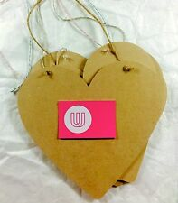 Plain Wooden Hanging Shabby Chic Heart 26x26cm with string rope arts crafts sign