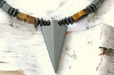 Men's Powerful Magnetic Hematite ARROW NECKLACE TIGER EYE STRONG FREE SHIPPING