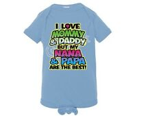 I Love Mommy & Daddy But NANA & PAPA Best NEON Lap Shoulder Creeper NB To 24 Mos
