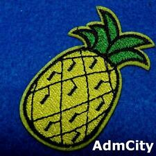 Pineapple Fruit Food Nature Iron on Patch Embroidered Applique Trip Green Biker
