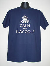 "Men's Slogan T-Shirt ""KEEP CALM AND PLAY DARTS/GOLF Great Gift Son, Brother, Dad"