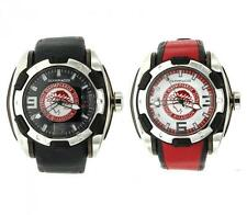 Orologio Uomo CHRONOTECH OLYMPIACOS Pelle Nero Rosso Team Limited Man