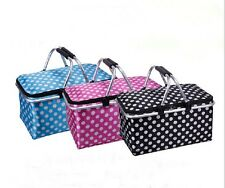 Fordable Picnic Basket Collapsible Insulated Cooler Picnic Basket Picnic Bag