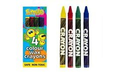 6 - 36 Pack of 4 MINI wax CRAYONS Party bag filler stocking Toy children kids