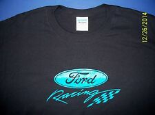 Ford Racing Screen Printed Black T-Shirt Long Sleeve 6 oz. 100% Cotton