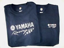 Two Yamaha Racing Screen Printed Navy T-Shirts 6 oz. 100% Cotton