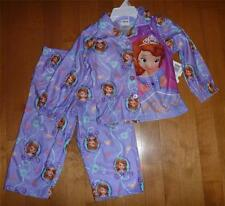 Toddler Girls Disney SOFIA the FIRST Pajamas SIZE 2T 3T 4T PJs Flannel Coat NWT