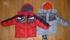 NWT Toddler Boys Vertical '9 Puffer Jacket Winter Coat Hood Size 3T Gray or Red