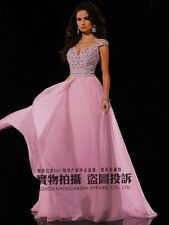 2015 Long Royal Formal Evening Ball Gown Party Prom Bridesmaid Dress Stock Size