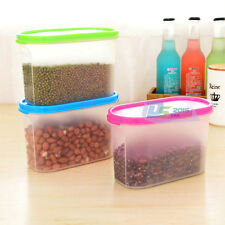 Hot Plastic Food Grain Rice Beans Tea Storage Box Container With Lid For Kitchen