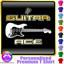 Electric Guitar Ace - Personalised Music T Shirt 5yrs - 6XL by MusicaliTee