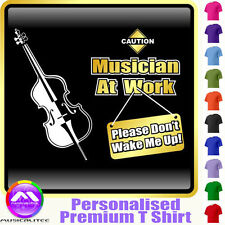 Double Bass Dont Wake Me - Personalised Music T Shirt 5yrs - 6XL by MusicaliTee