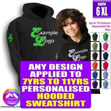 HOODY 7 - 11 yrs With Any Music Design Personalised by MusicaliTee